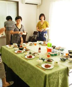 福岡ミモザテラス料理教室の様子
