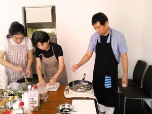 男性参加料理教室
